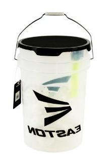 Easton Tee Bucket With 30 9-inch Training Balls