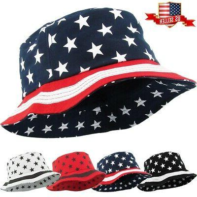 usa flag fashion bucket hat unisex 100
