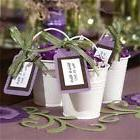 36 Pc White Tin Pails Buckets Wedding Favors with Ribbon, Ta