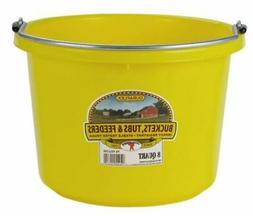 Miller Manufacturing P8YELLOW Plastic Round Back Bucket for
