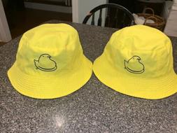 PEEPS Marshmallow Chick Bucket Hat NWOT Easter Reversible Me
