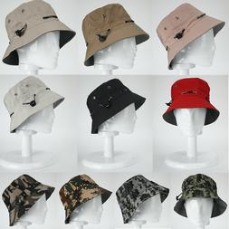 Men Women Bucket Hat Cotton Cap Fishing Camping Boonie Brim
