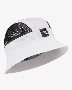 Nike Mens Bucket Hat Mesh Cap White Black BV3363-100 Unisex