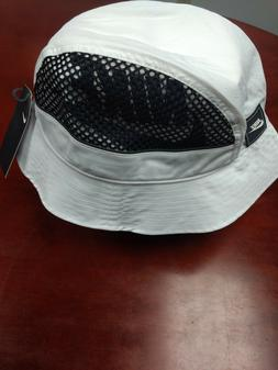 mens bucket hat mesh cap white black