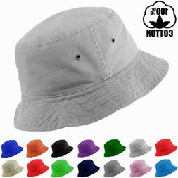 Mens Womens Bucket Hat Cap Fishing Boonie Brim Summer Sun Sa