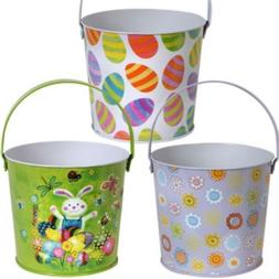 Metal Easter Buckets with Handles