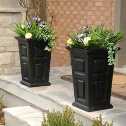 Nantucket Tall Planter - Color: Black