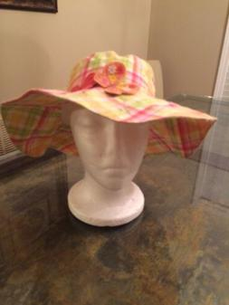 New Gymboree Girls Striped Bucket Hat with Butterflies Size
