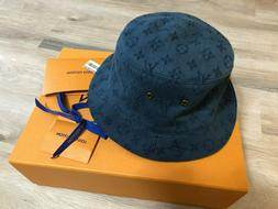 New in Box LOUIS VUITTON LV DENIM BUCKET HAT Sz L REVERSIBLE