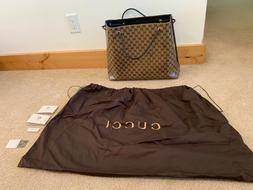 New, Gucci Large Crystal Bucket Bag GG, Woven Handles!!!