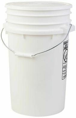 NEW Hudson Exchange Premium 7 Gallon Bucket with Lid HDPE Wh