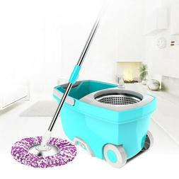New Upgraded Stainless Steel Microfiber 360 Rotating Mop + B