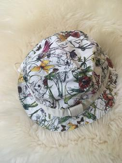 nwt 100 percent auth kids floral bucket