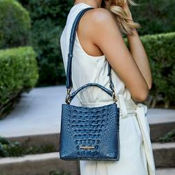 NWT $265 Brahmin Mini Amelia Bluebonnet Melbourne Leather Bu