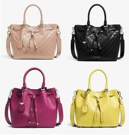 🌸NWT Michael Kors Blakely bucket bag leather quilted hand