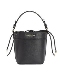 NWT KATE SPADE NEW YORK CAMERON BLACK LEATHER SMALL BUCKET B