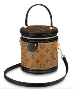 NWT Louis Vuitton Cannes Monogram LV Logo Brown Hat Box Hand