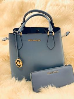 NWT MICHAEL KORS EDEN LARGE LEATHER BUCKET GRAB BAG + NWT MI