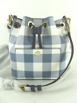 NWT Michael Kors GreenWich Small Bucket Crossbody Bag Navy/D