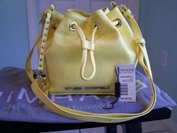 Brahmin NWT Handbag Bucket Lexi Tote Pebbled Leather Lemonad