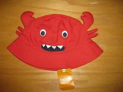 NWT Gymboree Shipmates size 4T-5T Red Crab Bucket Hat