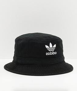 Adidas Originals Cotton Washed Black Summer Bucket Hat