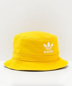 Adidas Originals Cotton Washed Yellow Summer Bucket Hat