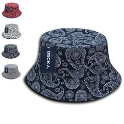 Decky Paisley Bandana Design Fitted Bucket Boonie Hats Caps