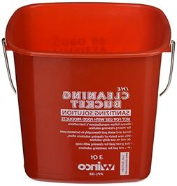 Winco Ppl-3r Cleaning Bucket, 3-quart, Red Sanitizing Soluti