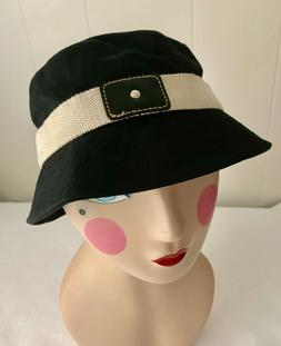 GAP    Size M-L    BLACK 100% Cotton Canvas BUCKET HAT + Bei