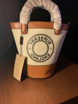 Burberry Small Canvas Bucket Tote