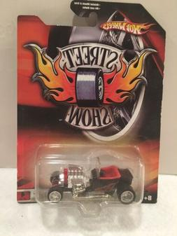 Hot Wheels Street Show T-Bucket Black Red With Flames
