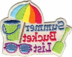 SUMMER BUCKET LIST Iron On Patch Vacation Trip Travel