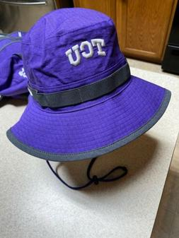 Nike TCU Horned Frogs Dri-Fit Team Issued Bucket Hat Size Me