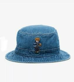 Polo Ralph Lauren Teddy Bear Denim Bucket Hat Size L/XL