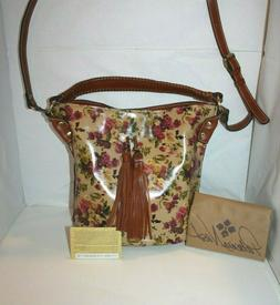 Patricia Nash Torresina Antique Rose Print Bucket Tote NWT/B