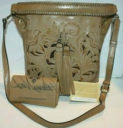 Patricia Nash Torresina BISCUIT Bucket Tote NWT/DustBag/Card