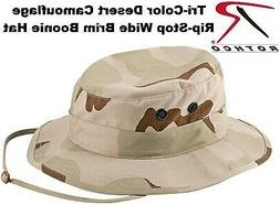 Tri-Color Desert Camouflage Military Tactical Wide Brim Buck