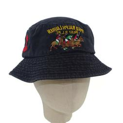 Unisex 100% Washed Cotton RLPC Polo Club Bucket Hat Summer O
