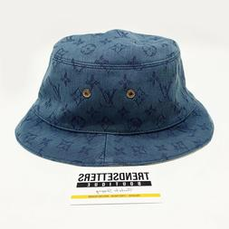 virgil lv denim bucket hat l reversible