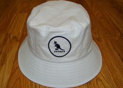 White KANGOL  Cotton Bucket Hat  Style  K2117SP