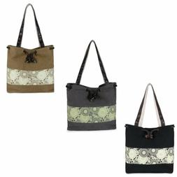 Women's Retro Casual Printing Canvas Bucket Shoulder Messeng