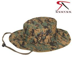 Rothco Woodland Digital Adjustable Boonie Hat - Military Sty